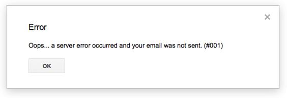 gmail error