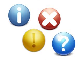 error icons