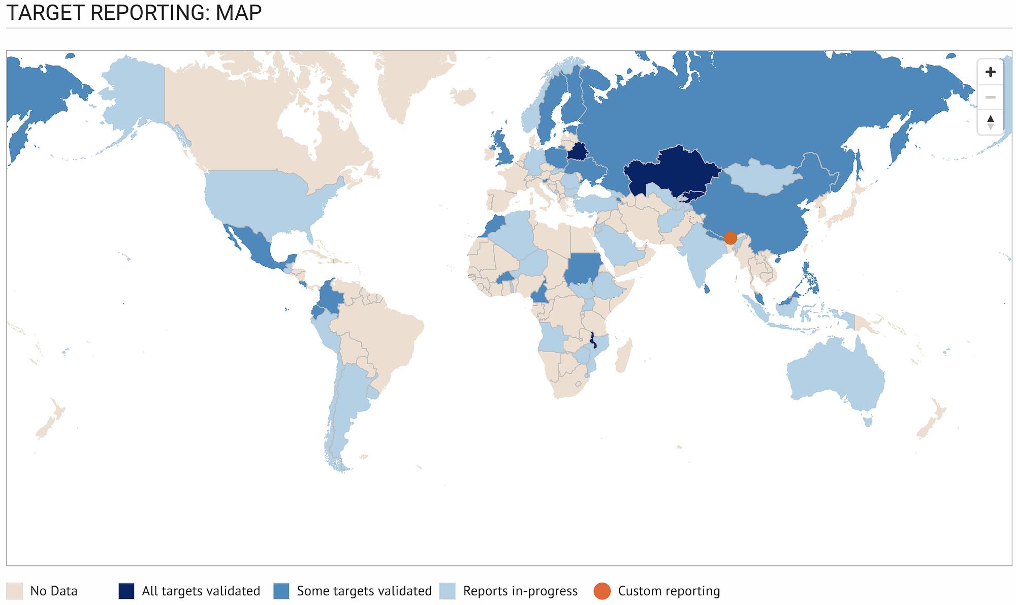 Sendai Global Targets Map