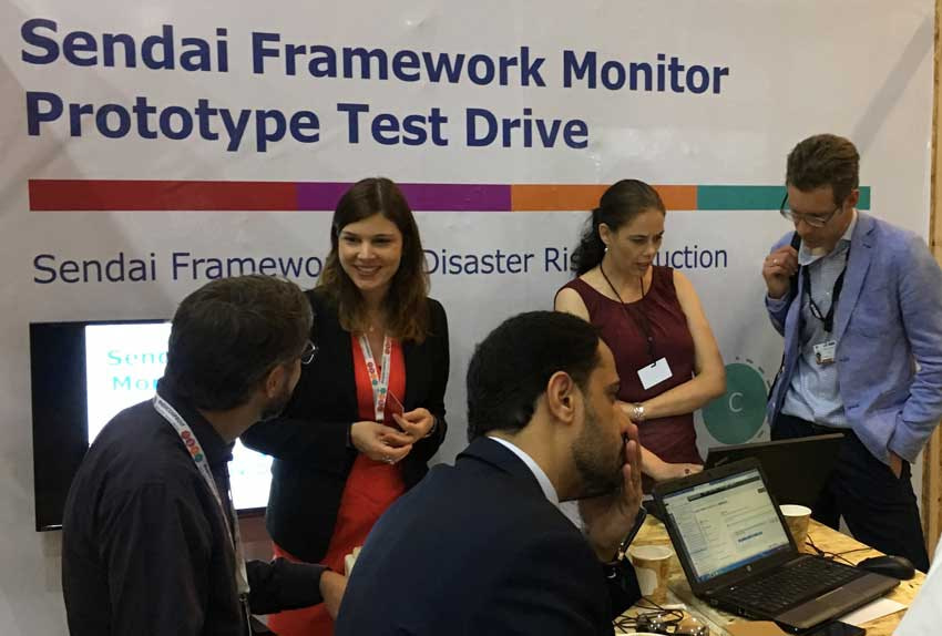 User testing of the Sendai Framework Monitor prototype in Cancun – June 2017